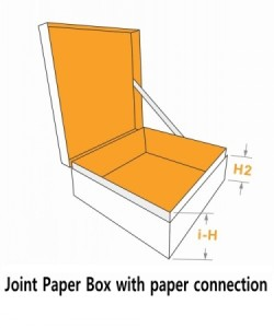 joint paper box with paper connection