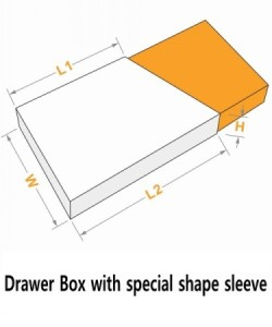 drawer box with special shape sleeve