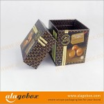 brown chocolate boxes