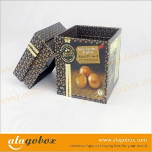 chocolate packaging boxes with lid and side wall