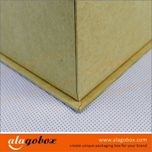 kraft boxes with lid and paper base