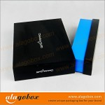 consumer electronics packaging of tablet with textured paper