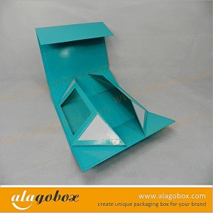 innovative packaging foldable shoe box with window