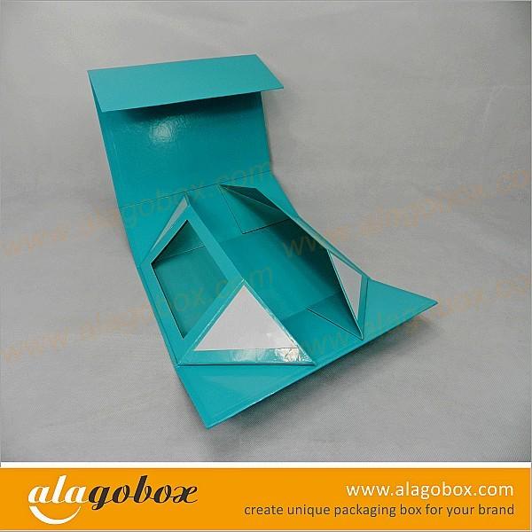 foldable shoe box with window