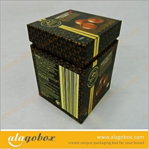 stylish boxes with lid and side wall for chocolate