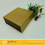 food boxes with golden line