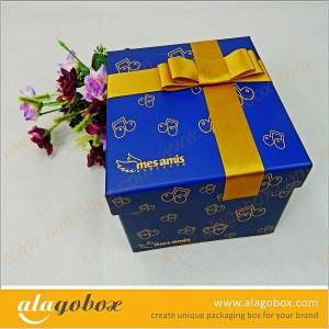 blue innovative packaging gift box
