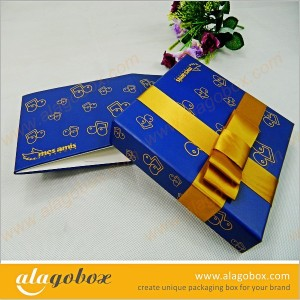 innovative packaging box with ribbon
