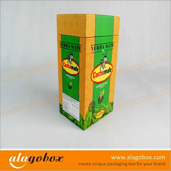 tea boxes with lid and side wall
