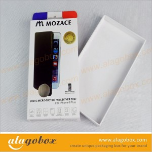 phone case cardboard slide boxes with hanger tab