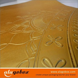 embossing for presentation boxes
