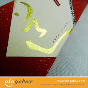 hot stamping onto presentation boxes