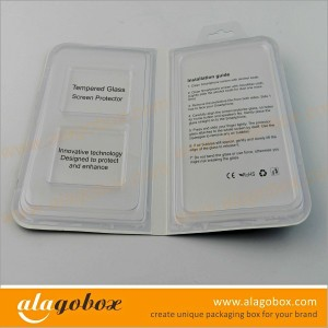 vacuum tray tempered glass screen protector packaging