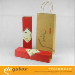 colorful corrugated paper food boxes