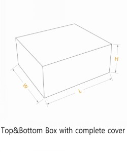 top and bottom box with complete cover