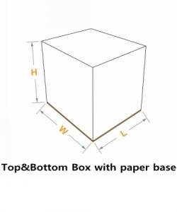 top&bottom box with paper base seperate