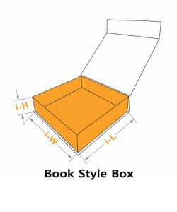 Book style box with size