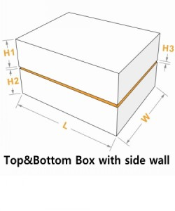 top&bottom cover with side wall