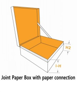joint paper box with paper connectionv