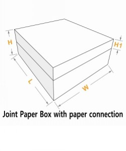 joint paper box with paper gluing connection