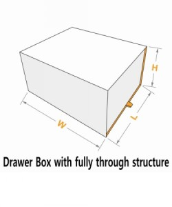 Drawer box with fully through structure 2