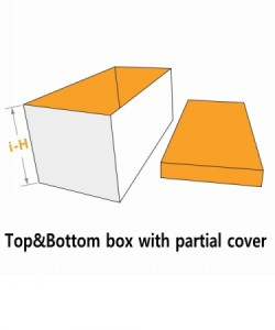 top&bottom box with partial cover seperate