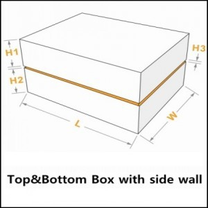 presentation boxes with lid and side wall