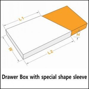 paper slide boxes with special shape sleeve
