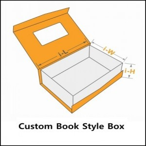 custom book style box template