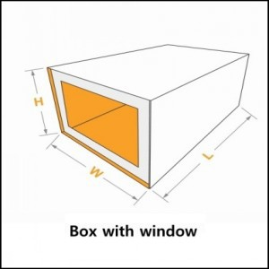 box with window for shoe