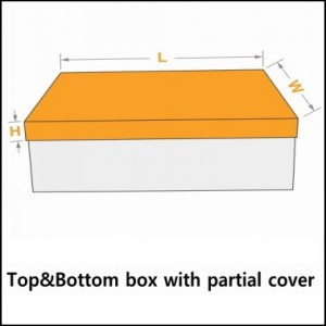 top&bottom box with partial cover