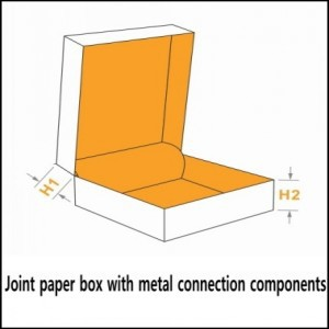 joint paper box with metal connection components