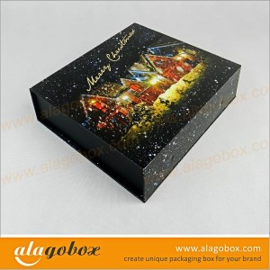 book style black gift boxes for christmas