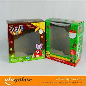 box with window for chocolate balls