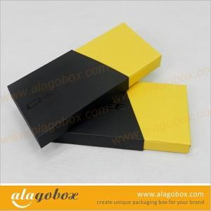 sliding open boxes with custom shape sleeve