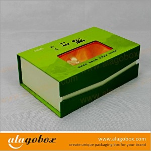 custom book style boxes with window for chinese medicine