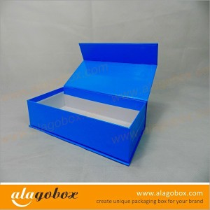 book style blue gift boxes