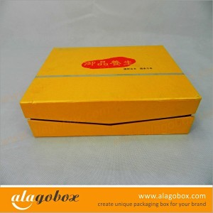 golden custom book style box for cosmetic products