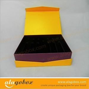 custom book style box for cosmetic products