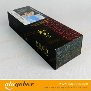 textured paper custom shape packaging boxes for cigarette