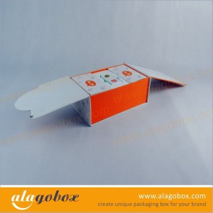 custom shape rigid boxes with 2 sides open