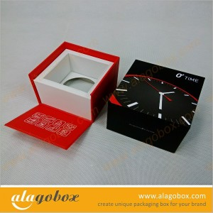 custom shape gift box for watch with front open