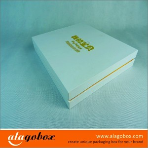 presentation boxes with hot stamped logo