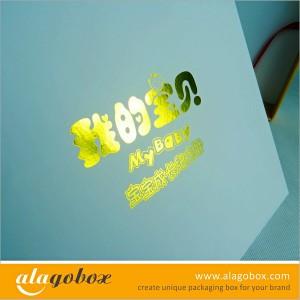 hot stamped logo for presentation boxes