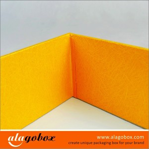 presentation rigid boxes with textured paper