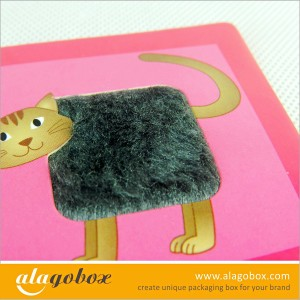 paper toys with cat fur