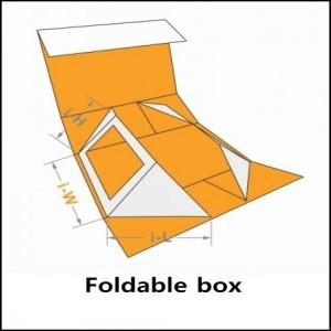 foldable box for shoe