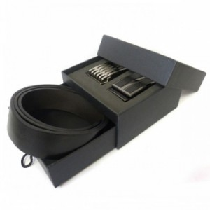 men belt box with slide open