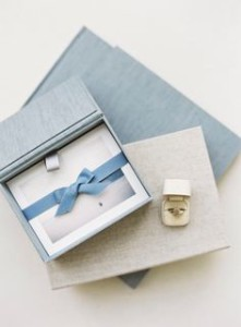 blue wedding album box