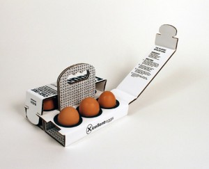 6 egg package with strong handle